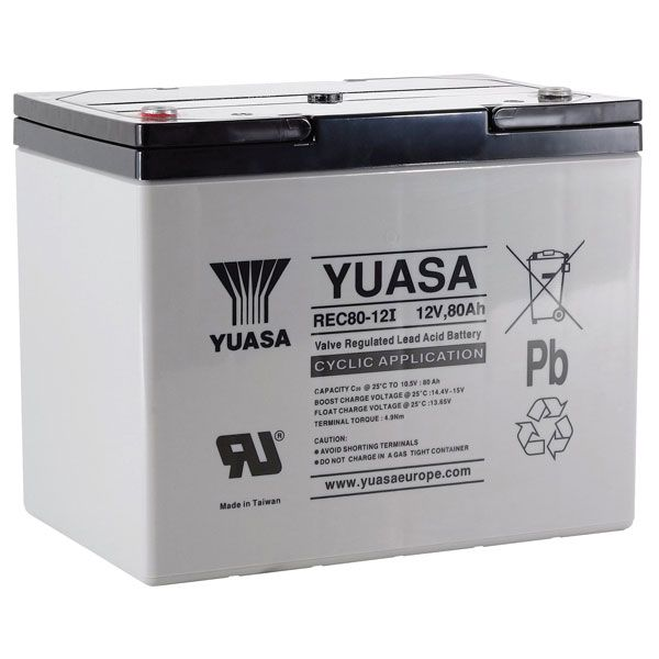 12v 80Ah Golf Trolley Battery Yuasa