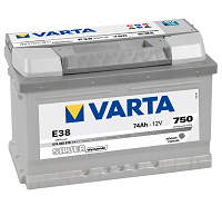 574 402 075 varta silver dynamic e38 100 12v 74ah car battery. Black Bedroom Furniture Sets. Home Design Ideas