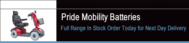 Pride Mobility Scooter Batteries