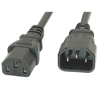 3M IEC Extension power lead male to female Pack of 5