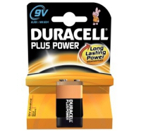 Duracell Plus 9V MN1604 6LR61 PP3 Battery
