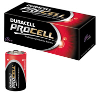 Duracell Procell D PC1300 MN1300 LR20 1.5V Batteries (Pack of 10)