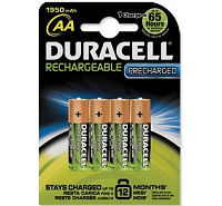 Duracell Rechargeable AA HR6 1950mAh Batteries (4 pack)
