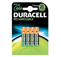 Duracell Rechargeable AAA HR03 950mAh NiMH Battery (4 pack)
