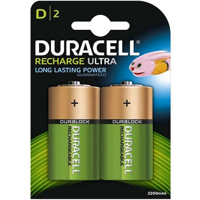 Duracell Rechargeable D HR20 2200mAh Battery (2 pack)