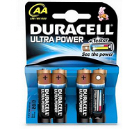 Duracell Ultra AA MX1500 LR6 Battery (4 pack)