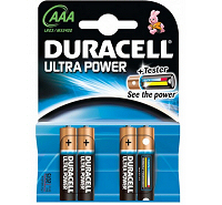 Duracell Ultra AAA MX2400 LR03 Battery (4 pack)
