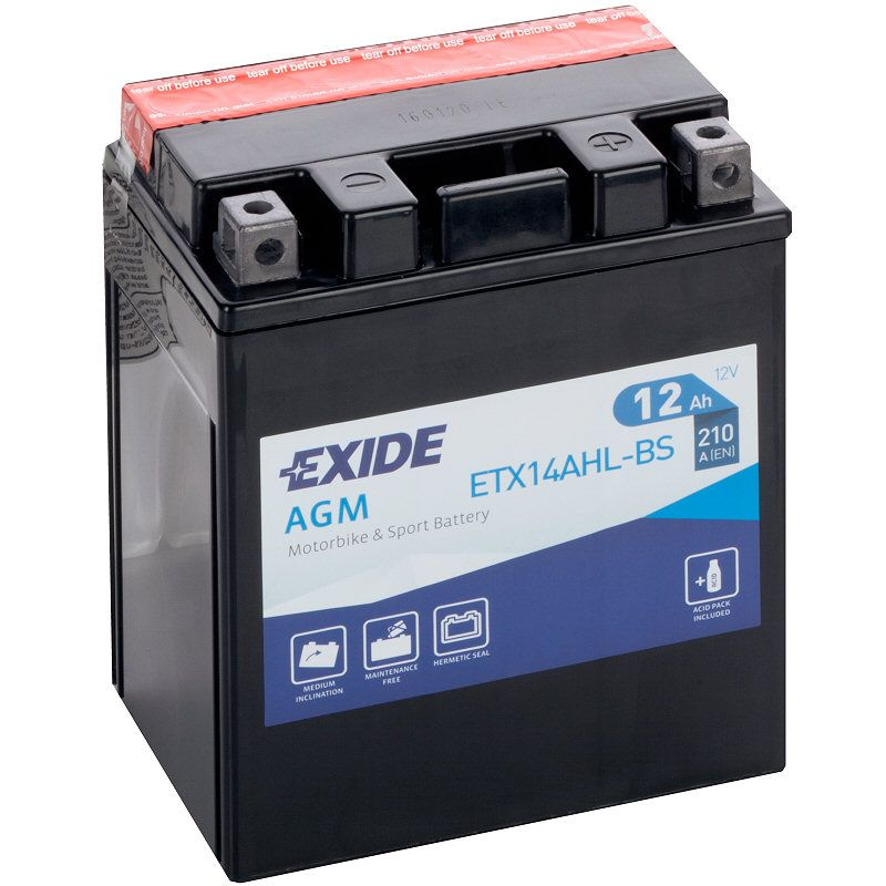 Exide Ytx14ahl Bs Motorcycle Battery Etx14ahl Bs