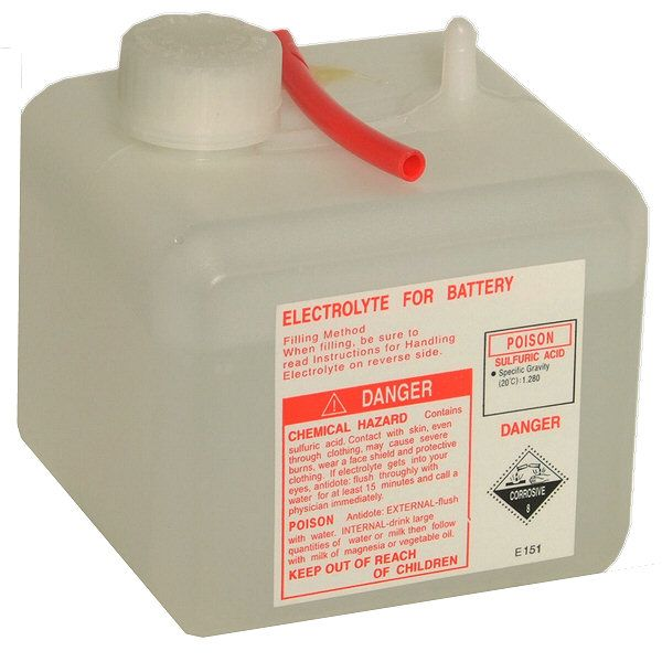 Motorcycle Battery Acid Pack Half Litre