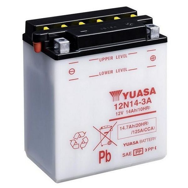 yuasa 12n14 3a motorcycle battery. Black Bedroom Furniture Sets. Home Design Ideas