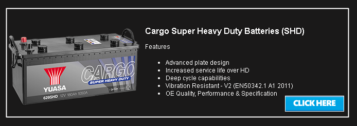 Cargo Super Heavy Duty Batteries (SHD)