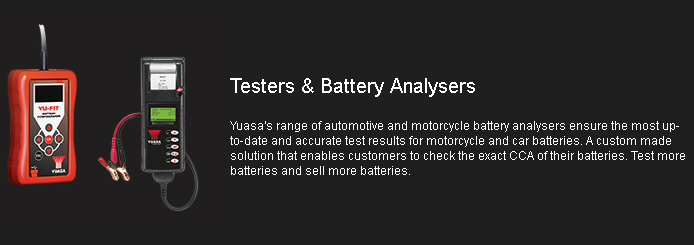 Yuasa Battery Testers and Analysers