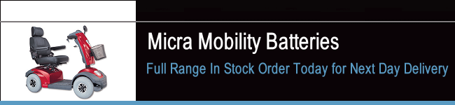 Micra Mobility Scooter Batteries