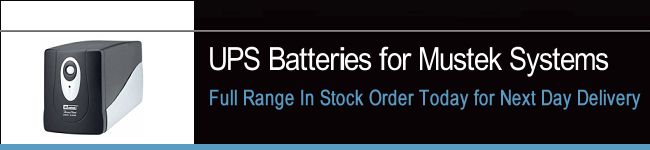 UPS Batteries For Mustek Systems