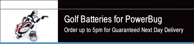 PowerBug Golf Batteries