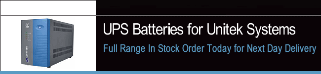 UPS Batteries For Unitek Systems